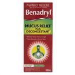 Benadryl Mucus Relief & Decong