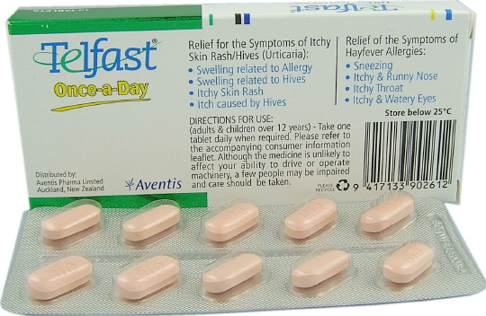 Telfast tablets what are they for